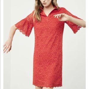Banana Republic Red Lace Polo Dress